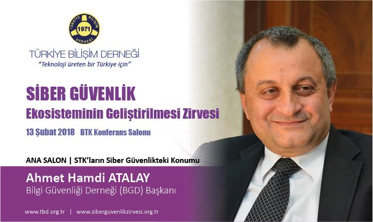 Siber G-venlik Zirvesi-Ahmet Hamdi ATALAY_Banner