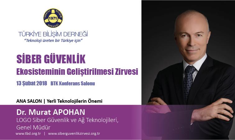 Siber G-venlik Zirvesi-Dr. Murat APOHAN_Banner
