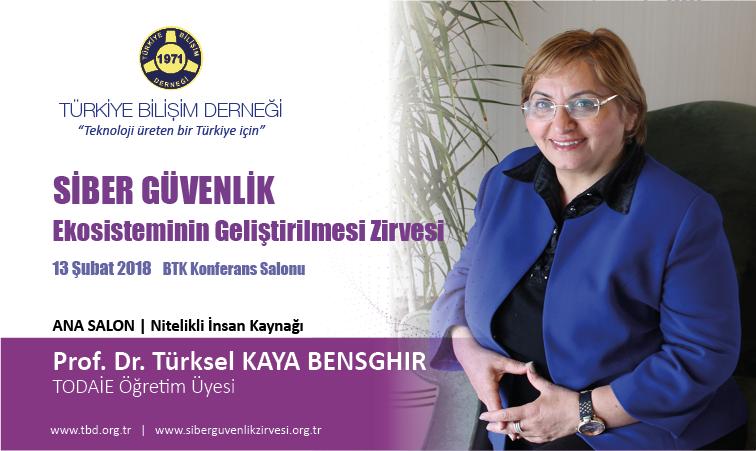 Siber G-venlik Zirvesi-Prof. Dr. T-rksel KAYA BENSGHIR_Banner