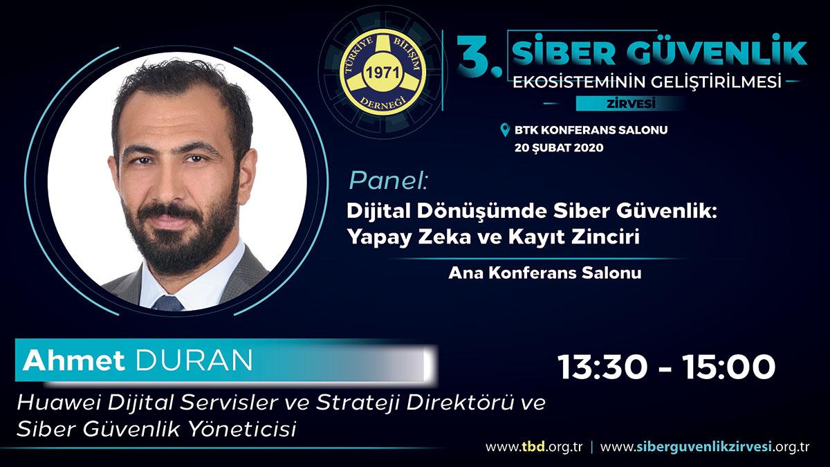 Ahmet DURAN - 3. Siber Güvenlik Zirvesi