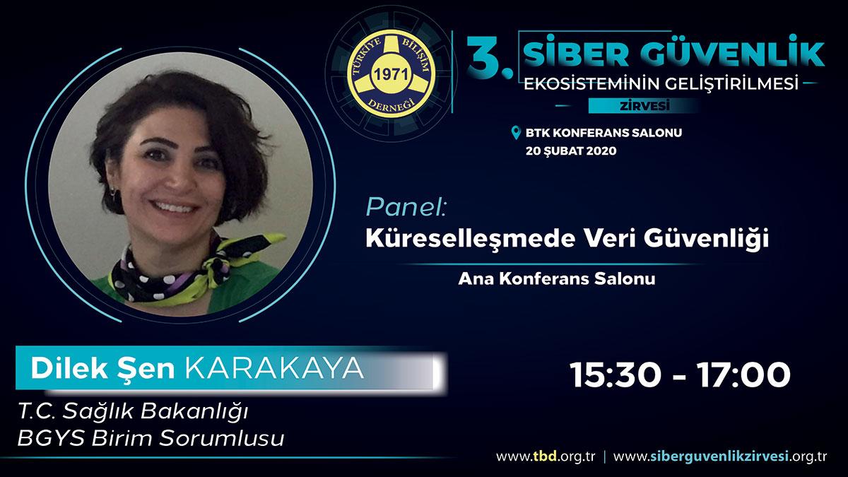 Dilek ŞEN KARAKAYA - 3. Siber Güvenlik Zirvesi