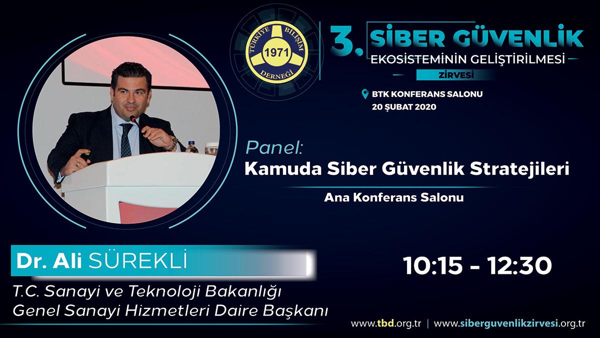 Dr. Ali SÜREKLİ - 3. Siber Güvenlik Zirvesi