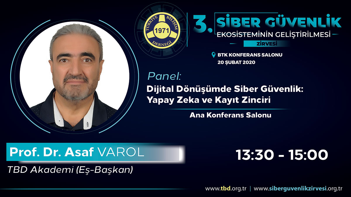 Prof. Dr. Asaf VAROL - 3. Siber Güvenlik Zirvesi
