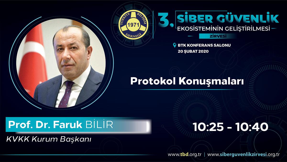 Prof. Dr. Faruk BİLİR - 3. Siber Güvenlik Zirvesi