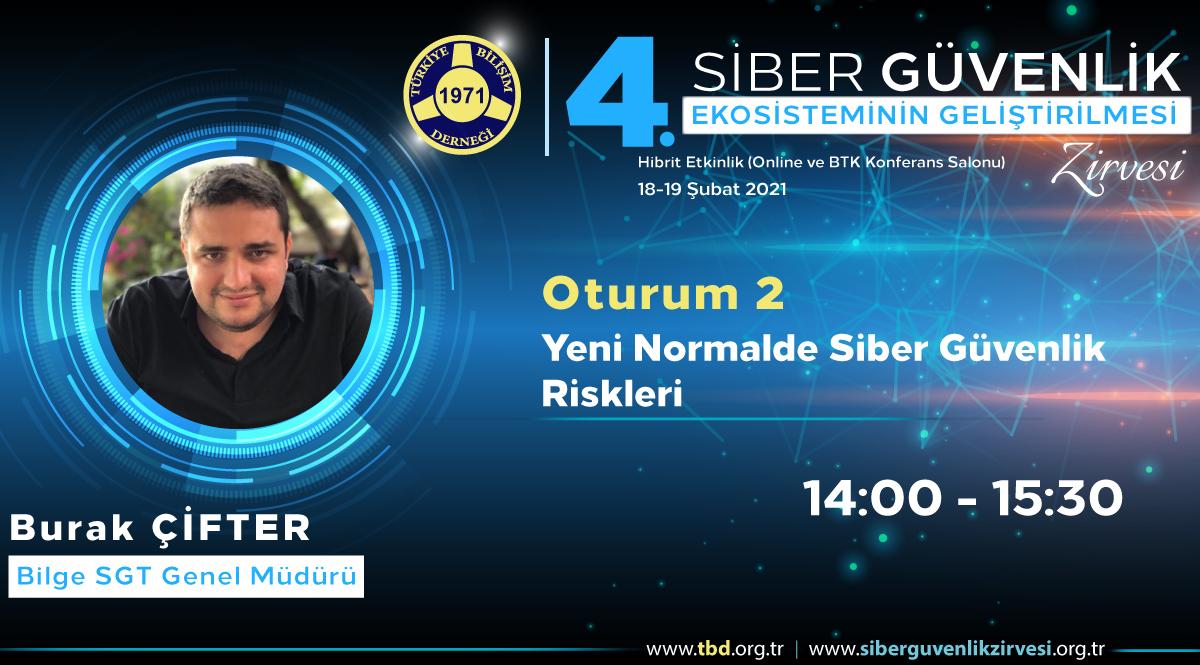 Burak ÇİFTER - 4. Siber Güvenlik Zirvesi