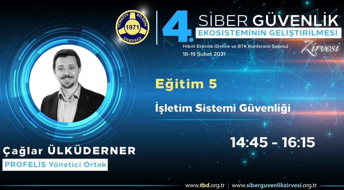 Çağlar ÜLKÜDERNER - 4. Siber Güvenlik Zirvesi