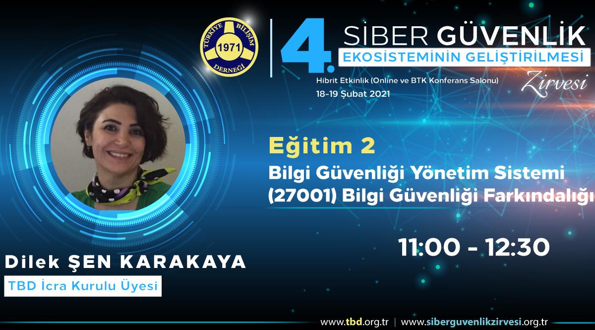 Dilek ŞEN KARAKAYA - 4. Siber Güvenlik Zirvesi