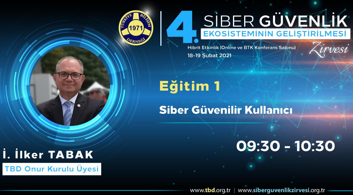 İ. İlker TABAK - 4. Siber Güvenlik Zirvesi