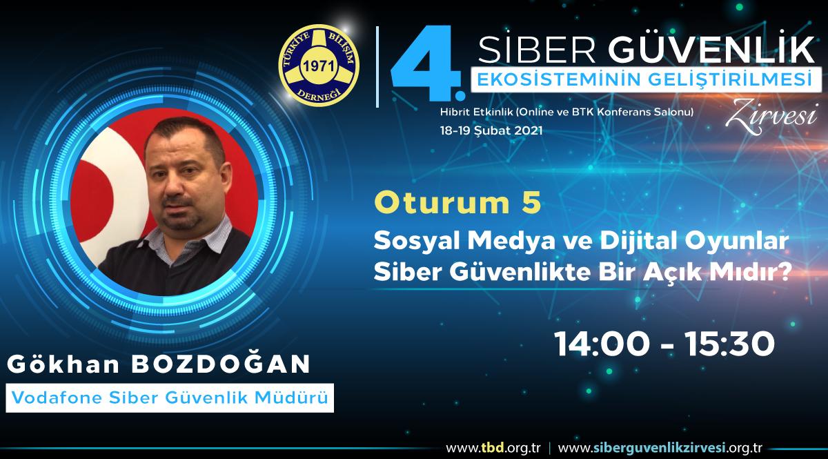 Gökhan BOZDOĞAN - 4. Siber Güvenlik Zirvesi