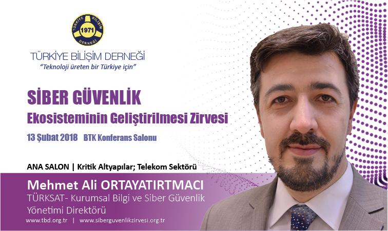 Siber G-venlik Zirvesi-Mehmet Ali ORTAYATIRTMACI_Banner